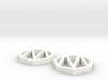 Heptagon Monogram Earrings (customizable) 3d printed