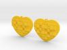 Mosaic Heart Earrings Large 3d printed