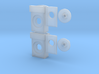 GP35 Semi-Scale Buffer Plate/ Draft Gear Box 3d printed