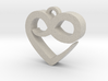 Infini Heart Necklace 3d printed