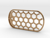 Honeycomb Dog Tag 3d printed