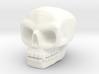 Skull bead (Top threading) 3d printed