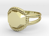 Size 7 Diamond Ring A 3d printed
