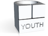 Youth Box Ring - Sz. 9 3d printed