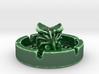 Alien Porcelain Ashtray 3d printed Alien Porcelain Oribe Green Shapeways render