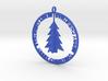Christmas Ball with trees 3d printed