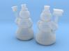 2 Snowmen (N 1:160) 3d printed