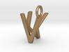 Two way letter pendant - KV VK 3d printed