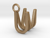 Two way letter pendant - MU UM 3d printed