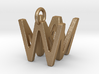 Two way letter pendant - MW WM 3d printed