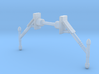 Deluxe Supertrain Megazord Rail Rescue 2 antennas  3d printed