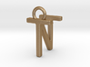 Two way letter pendant - NT TN 3d printed