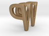 Two way letter pendant - PW WP 3d printed