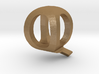 Two way letter pendant - QQ Q 3d printed