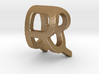 Two way letter pendant - QR RQ 3d printed