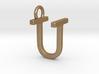 Two way letter pendant - TU UT 3d printed
