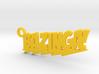 Bazinga Keychain 3d printed
