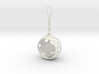 DRAW ornament - chain finial pass thru personalize 3d printed