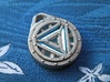 Arc Reactor Pendant: Tritium (Stainless Steel) 3d printed In this picture the phosphorus coating on the tritium vial is being energised by UV light.