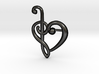 Clef Heart Pendant 3d printed