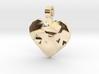 Heart of Polys pendant 3d printed