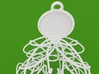 Twisted tree Christmas ornament 3d printed detail render