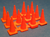 1/50 Traffic Cones 3d printed Printed cones still on the sprue.