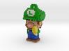 Super Plumber Green Bro Voxel Ornament 3d printed