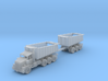 tri-axle DumpTruck W Bed Trailer Zscale 3d printed