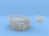 Fletcher-class Tear Drop Gun Tub Version 1 3d printed
