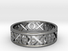 Size 8 Xoxo Ring A 3d printed