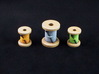 Spool tokens (3 pcs) 3d printed Hand-painted White Strong Flexible