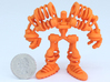 """Springbot V2-7 /Series#1 (100% 6.9cm/2.72"""") 3d printed with quater for scale"""