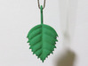 Birch Leaf Pendant 3d printed In the real world