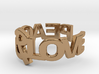 Peace&Love ring Size7 3d printed