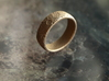 Moon Ring 3d printed Topographically correct Moon ring