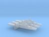 ITS Andrea Doria x 3, w/ barrel, 1/6000 3d printed