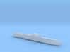 Type XXI Submarine, Full Hull, 1/1800 3d printed