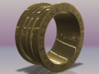 Engagement Ring - MEA FORTUNA IN MANIBUS TUIS 3d printed theengraving is not included, because it is to fine to print.  I will send my ring to a jewelry for laser engraving.