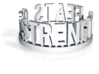 DRAW Festivus - Feats Of Strength ring 3d printed