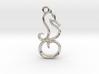Tiny Seahorse Charm 3d printed