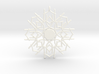 Peppermint Snowflake 3d printed