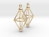 Octahedron Earrings 3d printed