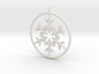 Flake Ring 6 Point Pendant - 6cm - w Loopet 3d printed