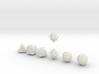 NECRON Innie Sharp skull dice 3d printed