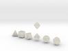 FUTURISTIC Outies Sharp dice 3d printed