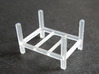 Steel Storage Rack 1-87 (HO Scale) 3d printed Steel Storage Rack - FUD Print