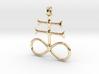 SULFUR Alchemy Symbol Jewelry Pendant 3d printed