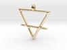 EARTH Alchemy Jewelry Symbol Pendant 3d printed