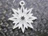 Snowflake Pendant 3d printed Snowflake Pendant in Frosted Ultra Detail